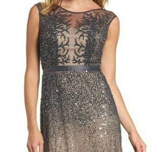 Dress The Population Godet Sequin Dress M Flaw